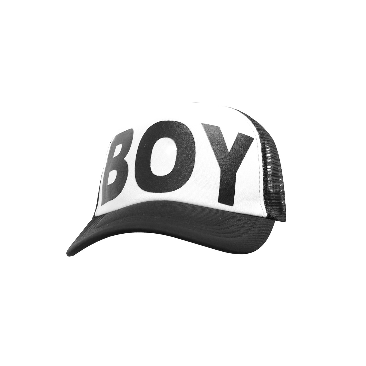 Бейсболка Трекерка  Мужская white белая с надписью BOY