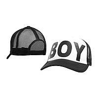 Бейсболка Трекерка  Мужская white белая с надписью BOY, фото 3
