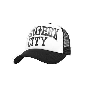 Бейсболка Трекерка  Мужская white белая с надписью Fingerx City