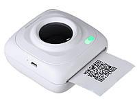 Карманный фото принтер Pomiacam  для смартфонов Bluetooth  Белый
