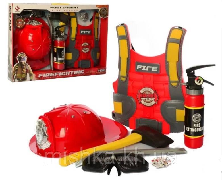 Детский набор пожарника с жилетом F015C