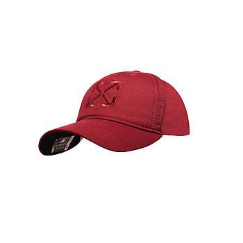 Бейсболка Cotton Мужская с логотипом бордовый