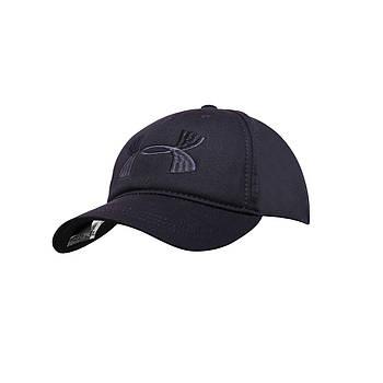 Бейсболка Cotton Мужская с логотипом Черная
