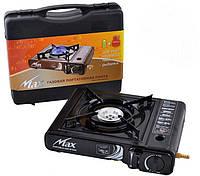 Плита газовая портативная, Max MS-2500 LPG с адаптером