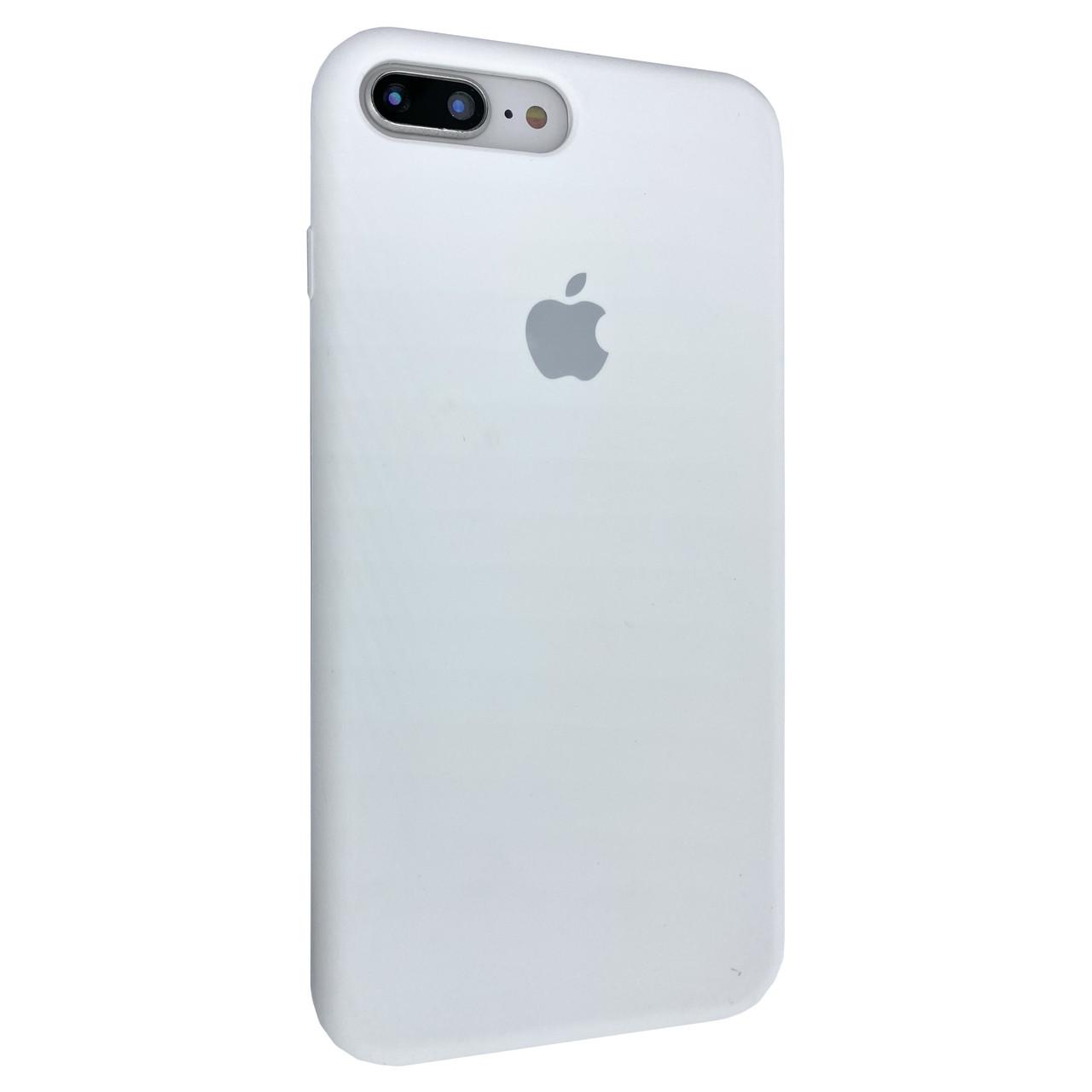 Чехол-накладка Silicone Case Full Cover для Apple iPhone 7 / 8 Plus (white)
