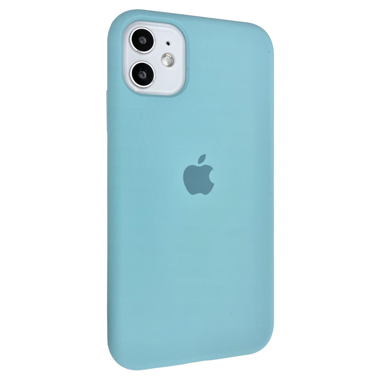 Чехол-накладка Silicone Case Full Cover для Apple iPhone 11  (Sea Blue)