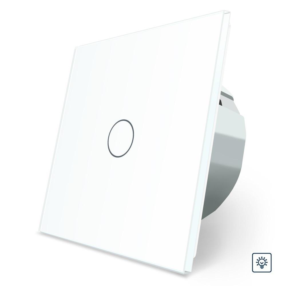 Сенсорный диммер Livolo белый стекло (VL-C701D-11)