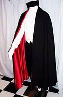 Карнавальный Универсальный Плащ Мантия Вампира из Трансильвании Красно-Черная Мантия для Вечеринки, фото 1
