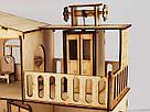 Будиночок іграшковий з ліфтом дерев'яний 3Д конструктор, фото 4