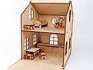 Будиночок іграшковий дерев'яний 3Д конструктор, фото 3