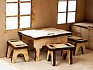Будиночок іграшковий дерев'яний 3Д конструктор, фото 6