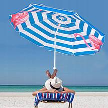 Пляжный зонт с регулируемой высотой и наклоном Springos 180 см BU0013, фото 2