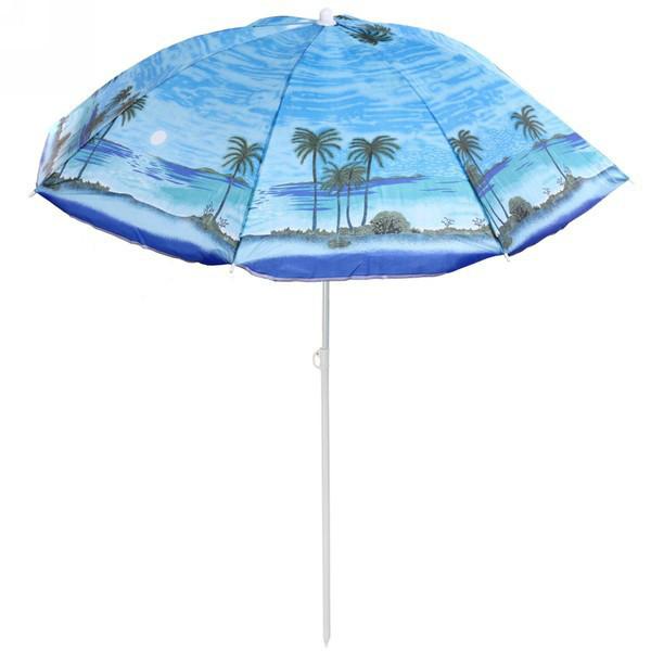 Пляжный зонт 110M 2.20м, спицы системы ромашка, с наклоном и напылением  (ЦЕНА ЗА ЯЩИК)