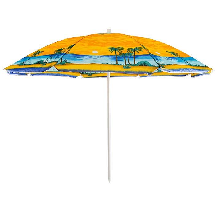 Пляжный зонт 110P 2.20м,пластиковые спицы, с наклоном и напылением  (ЦЕНА ЗА ЯЩИК)