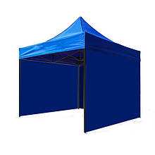 Боковая стенка на шатер - 9м ( 3 стенки на 3*3) СИНИЙ