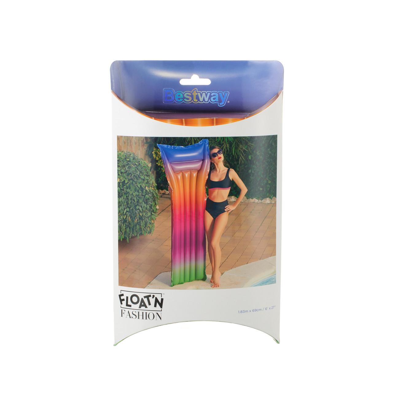 Пляжный надувной матрас радуга INTEX 44041