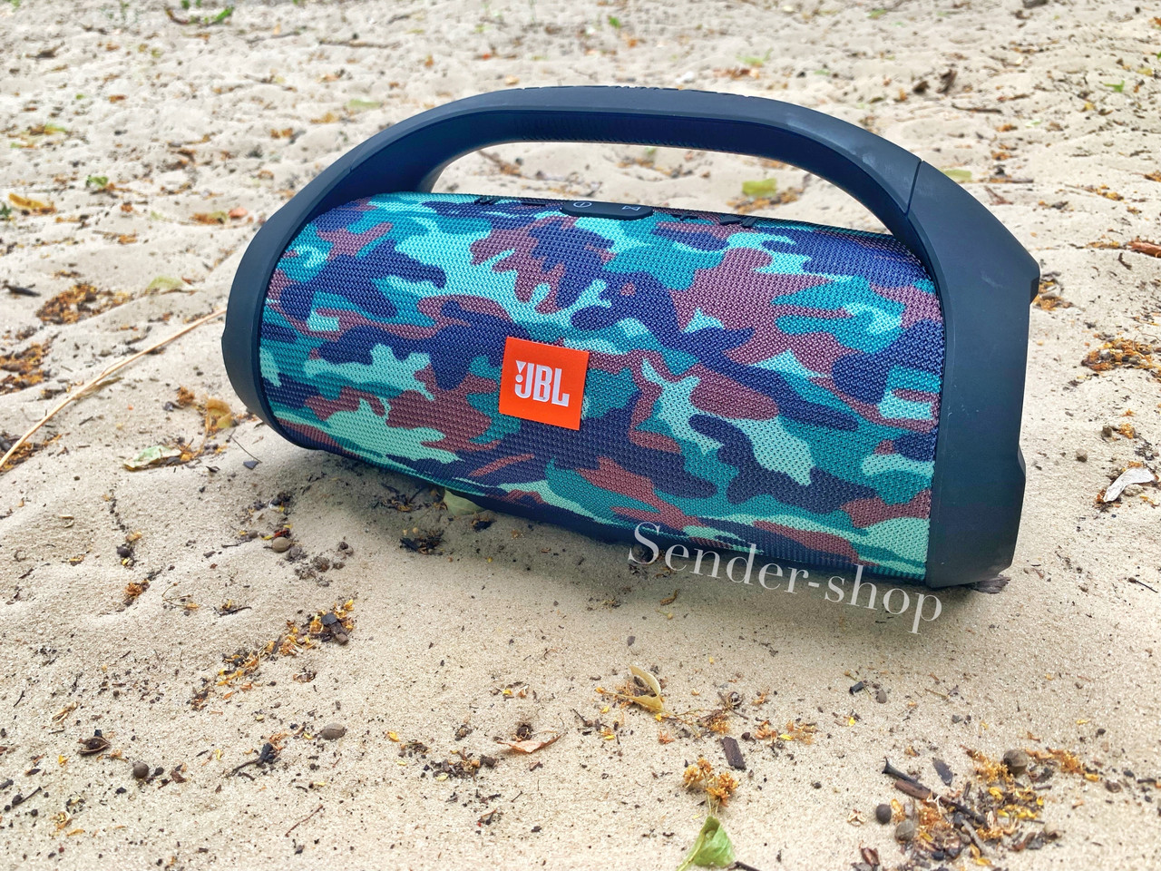 Колонка JBL Boombox XXL BIG камуфляж 40 Вт  хаки