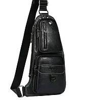 Мужская сумка Jeep через плечо рюкзак бананка, black, фото 1