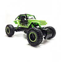 Джип Diancheng Toys Rock Crawler машинка на р/у Зеленый мощный большой внедорожник на радиоуправлении