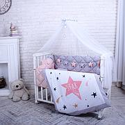 Балдахин Маленькая Соня Stich 4 м белый с серой лентой детский арт.054352