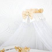 Балдахин Маленькая Соня Smile 4 м белый с кофейной лентой детский арт.053241