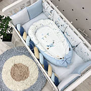 Кокон для новорожденных Маленькая Соня Art Design Boy 65*90 см поплин детский арт.5039426