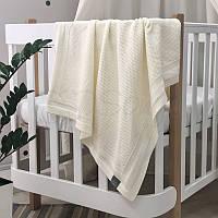Плед Маленькая Соня Рогожка 75*90 см хлопковый вязаный детский молочный арт.935335