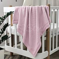 Плед Маленькая Соня Рогожка 75*90 см хлопковый вязаный детский розовый арт.935309