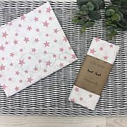 Пеленка Маленькая Соня 80*100 см бязь детская звезды розовые арт.4667451