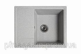 Мойка кухонная Solid Силика, серый (ДхШхГ-560х470х200)