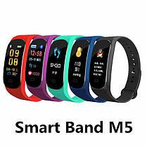 Фитнес браслет M5 Band Smart Watch Bluetooth 4.2, шагомер, фитнес трекер, пульс, фото 3