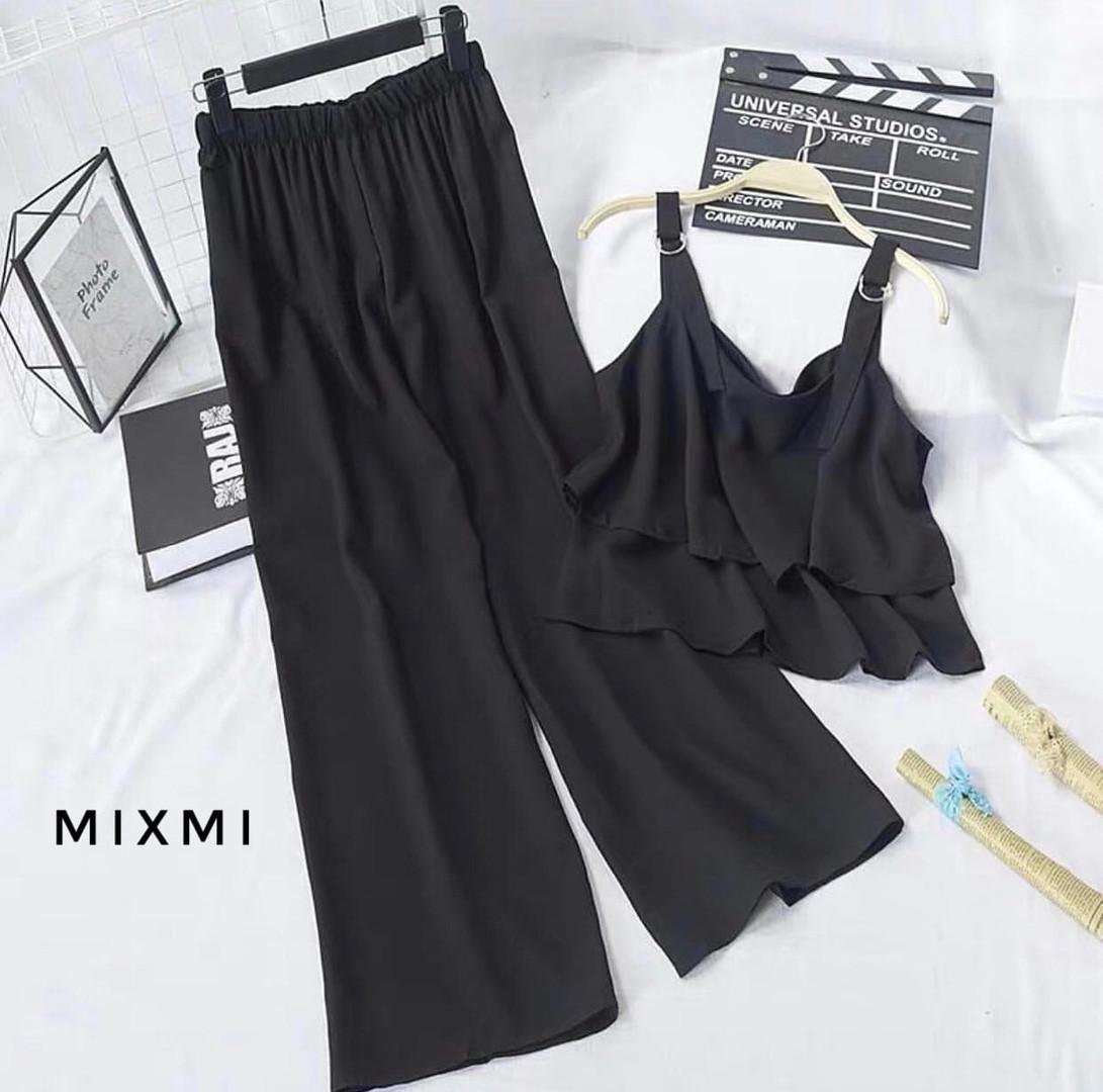 Женский костюм, софт, р-р 42-44; 44-46 (чёрный)
