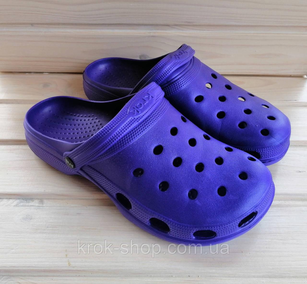 Кроксы женские одноцветные Крок