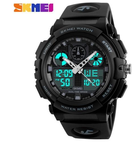 Спортивные часы Skmei S Shock Черный+Белый
