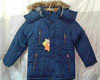 Куртка зимняя парка для мальчика 10-14 лет,синяя