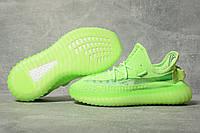 Кроссовки женские 17563, Adidas Yeezy, зеленые, < 37 39 40 > р. 39-25,0см.