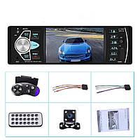 Автомагнитола с экраном 1din Pioneer с камерой Блютуз\USB\micro SD + пульт на руль, фото 1