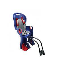 Велокресло синее TILLY T-831 с установкой к подседельной трубе или на багажник с весом ребенка до 22 кг