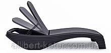 Шезлонг зі штучного ротангу Atlantic графіт ( Keter )