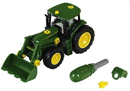 Детский конструктор трактор с погрузчиком John Deere Klein 3903