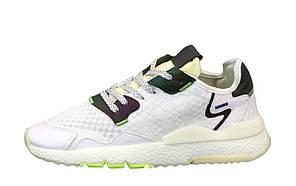 Мужские кроссовки Adidas Nite Jogger Полный рефлектив (белые) 12173