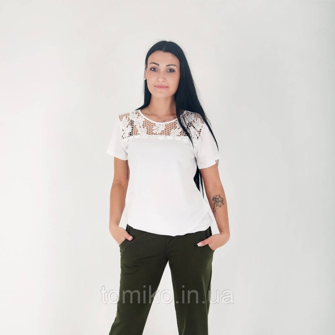 Женская футболка-блуза хлопковый