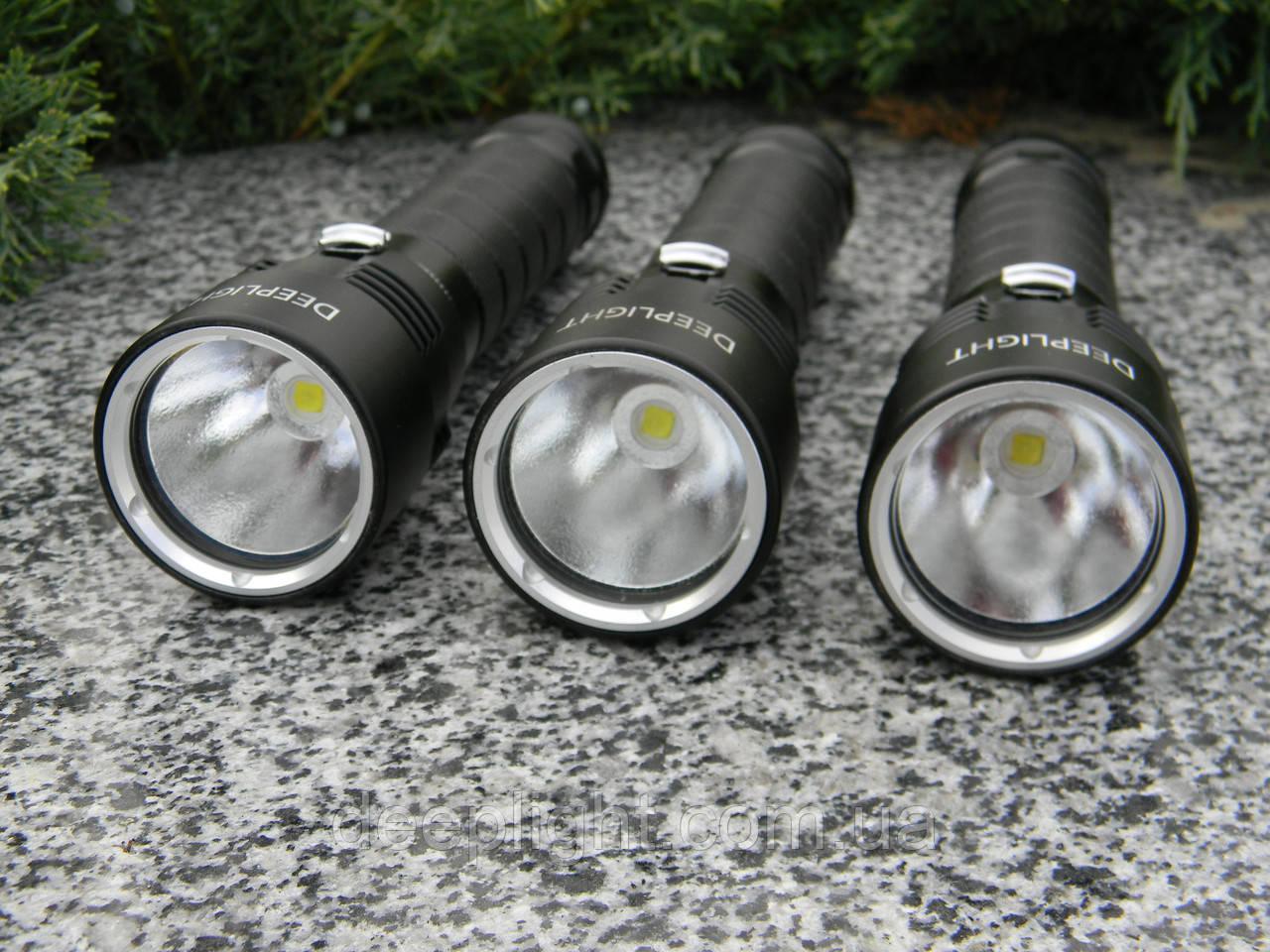 Подводный фонарь Deeplight D150.2 Original Deeplight Logo с жёлтым светом на Cree XHP50.2 18W под 26650/18650