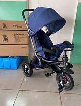 Велосипед-коляска дитячий триколісний Azimut Crosser T-350 Eco Air New синій