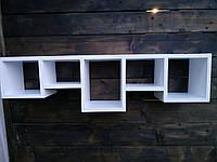 """Полиця настінна з натурального дерева""""tetris 3"""" (Полка настенная из натурального дерева ''tetris 3"""")"""