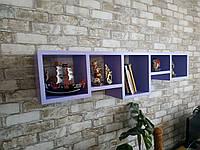 """Полиця настінна з натурального дерева""""tetris 4"""" (Полка настенная из натурального дерева ''tetris 4"""")"""