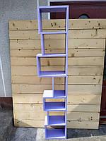 """Полиця настінна з натурального дерева""""tetris 5"""" (Полка настенная из натурального дерева ''tetris 5"""")"""