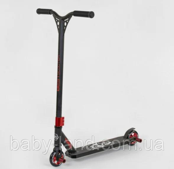 Самокат трюковый Best Scooter 94655 HIC-система ПЕГИ алюминиевый диск и дека