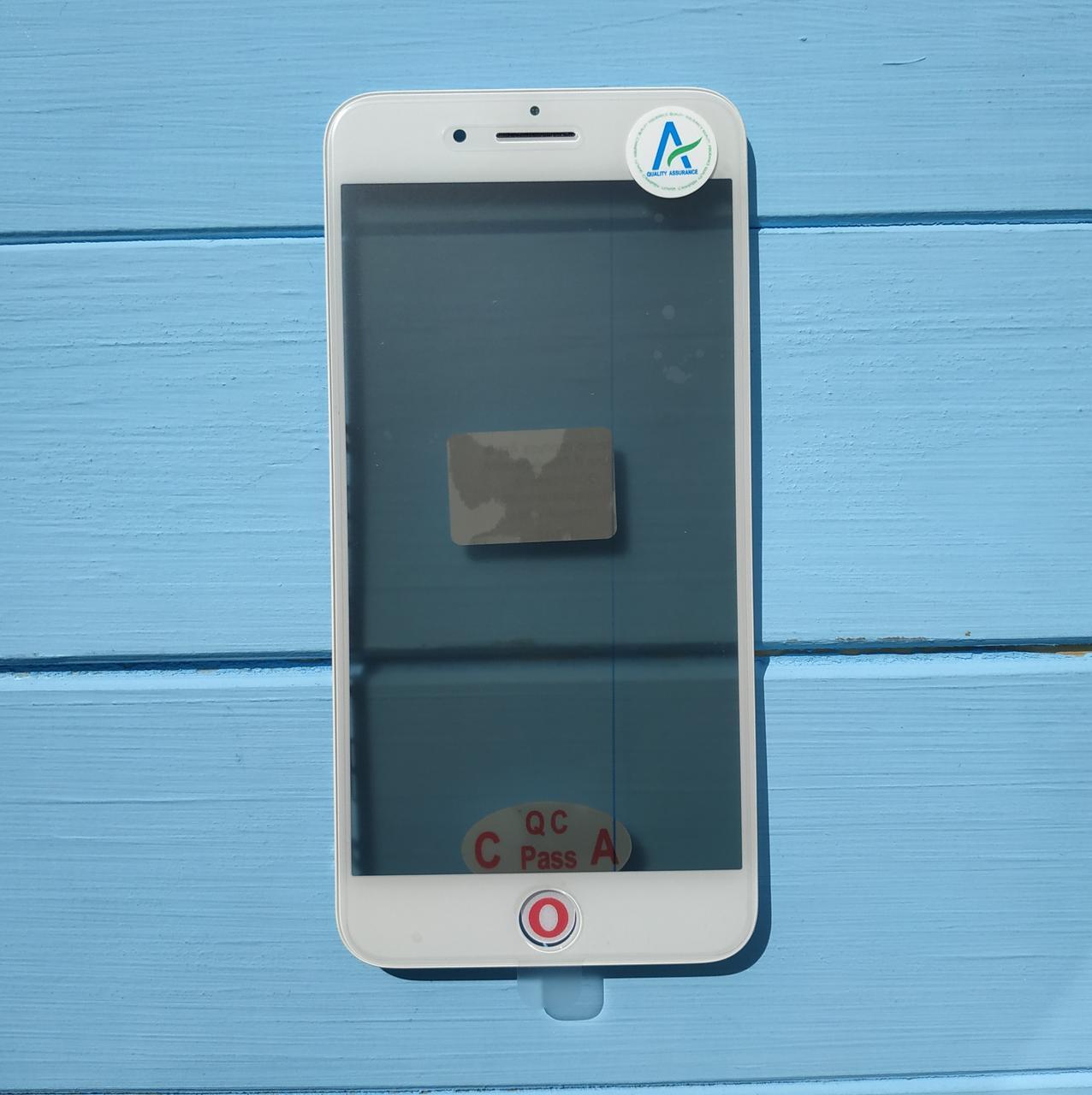 Стекло корпуса Apple iPhone 8 Plus с рамкой, OCA пленкой, поляризационной пленкой White