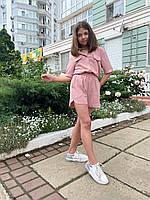 Детский костюм на лето с шортами пудра